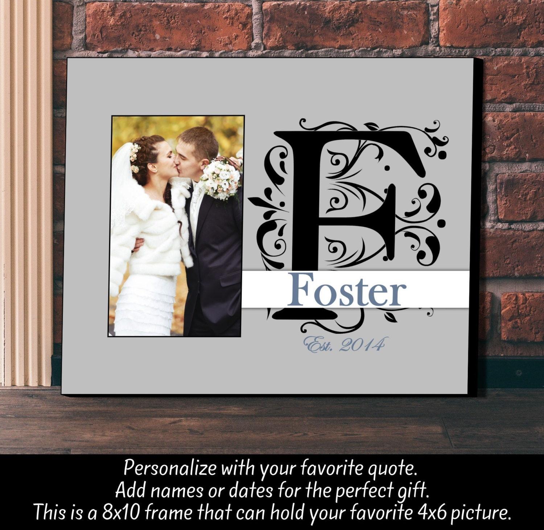 Personalisierte Bilderrahmen Hochzeit Jahrestag Monogramm   Etsy