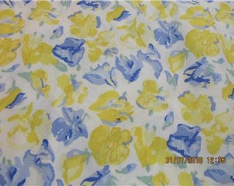 Vintage Laura Ashley Offcut Cotton Fabric Remnant Pink Ditzy Floral Print 1980s