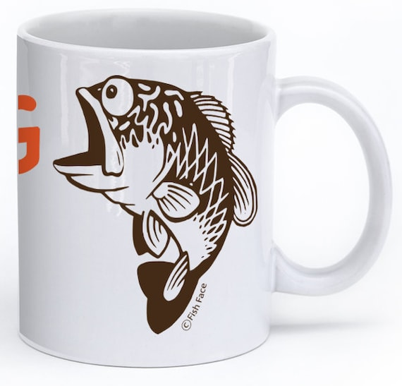 Bass Fishing Coffee Mug Funny Coffee Cup Fisherman Gift Idea Etsy