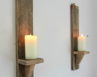 Candle Wall Sconces | Etsy