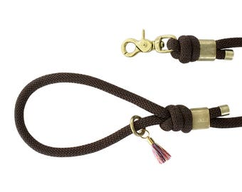 Dog leash - Brown Paracord dog leash - Paracord dog leash - Paracord - leaves - Brown Leash leash - Brown