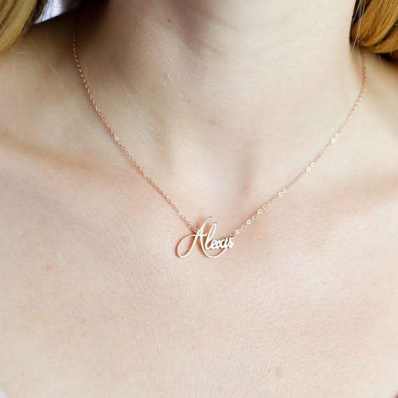 Baby Name Necklace Gift for Mom Dainty Name Necklace Custom Name Necklace Gift for Her Personalized Name Necklace Name Jewelry