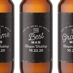 Groomsmen Proposal Labels, Will you be my Groomsman Beer & Whiskey Labels, Thank You For Being My Groomsman Label, Ask Groomsman #CLGL107