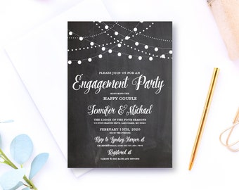 Engagement Party Invitation Fall Engagement Party Invitation Rustic Engagement Party Invitation Engagement Invitation Engaged #CL103