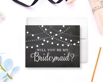 Bridesmaid Proposal Card Will you be my Bridesmaid Ask Bridesmaid Be my Bridesmaid Bridal Party Cards Maid of Honor Gift Ideas #CL103