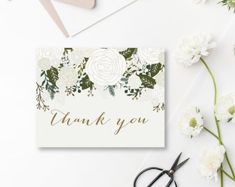 Thank You Card Template DIY Wedding Thank You Wedding Thank You Card Folded Thank You Thank You INSTANT Download PDF Template #CL112