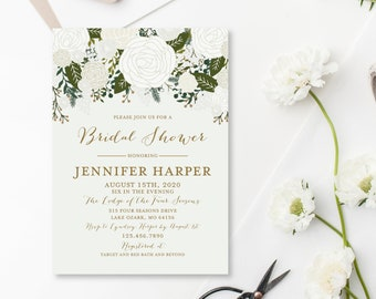 bridal shower invitation template diy bridal shower invite cheap invitation floral shower invite instant download pdf template cl112