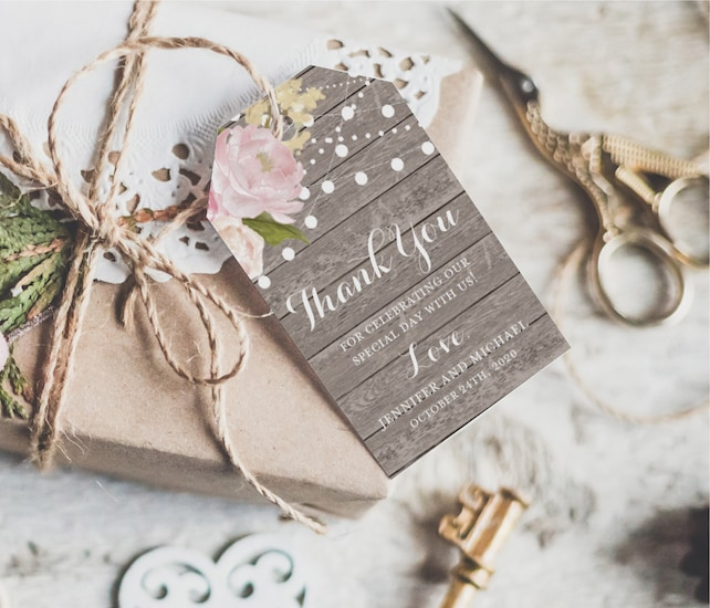 Thank You Tag Template Wedding Thank You Tags Wedding Favor Tags