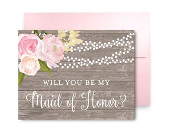 Will You Be My Bridesmaid Card Bridesmaid Maid of Honor Gift Will You Be My Maid of Honor Matron of Honor Brides Man Flower Girl #CL168
