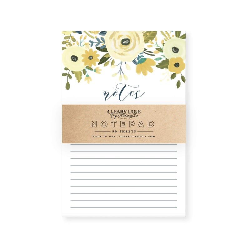List Notepad Desk Notepad Stocking Stuffers for Women Notepad To Do List Office Notepad To Do Notepad Daily Planner Notepad #CLN106