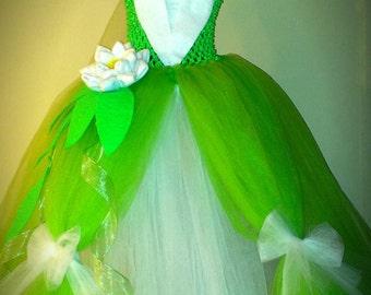Tiana Dress Disney Princess Dress Princess and the Frog Birthday Halloween Costume Baby Toddler Girls Tutu Dress from LanYapCrafts & Tiana baby dress | Etsy