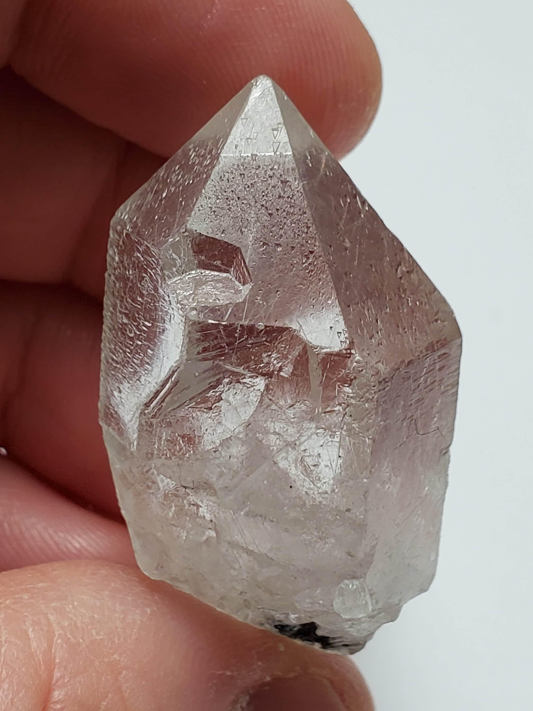 Garden Quartz Unpolished All Natural Phantom Quartz Crystal from Brazil- Various Mineral Inclusions 80 Grams- PT6 /'Shaman Quartz/'