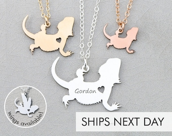 Bearded Dragon Charm Lizard Necklace Dragon Jewelry Pet Reptile Gift •Personalized Sterling Silver Dragon Gift Unique Gift Mother of Dragons