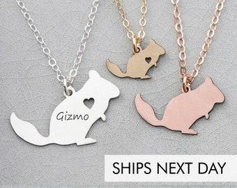 Chinchilla Necklace Animal • Pendant Chinchilla Gift Personalize Pet Charm Chinchilla Jewelry Unique Pet Gift Cute Pet Necklace