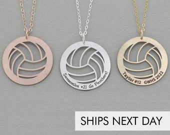 Volleyball Necklace • Sports Gift Team Necklace • Gift Volleyball Silver Sports Charm • Personalized Volleyball Jewelry Sports Gift Necklace
