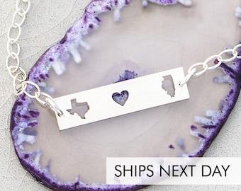 Sister Gift Bracelet Sister Goodbye Gift • Graduation Jewelry Going Away Gift Far Away Gift • Custom Bracelet Best Friend Travel Bracelet