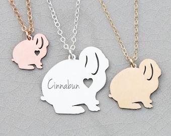 Bunny Necklace • Rabbit Gift Bunny Lop Rabbit Necklace • Gift Bunny Silver Bunny Charm • Personalized Pet Bunny Rabbit Loss Bunny Pendant
