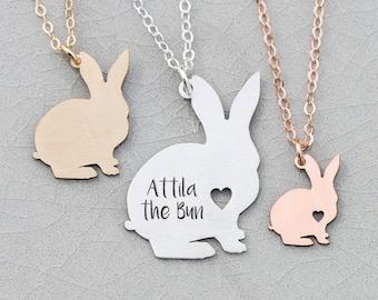 Bunny Necklace Pet Rabbit Memorial • Gift Bunny Silver Pet Bunny Rabbit Custom Bunny • Rose Gold Bunny Pendant Rabbit Loss Pet