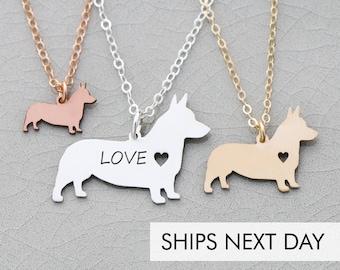 Corgi Dog Charm Necklace • Welsh Corgi • Pet Jewelry Corgi Personalize Dog Breed New Dog • Corgi Custom Pet Necklace Animal Rescue Dog
