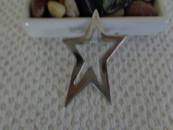 Mexican Vintage Silver Star pin Taxco
