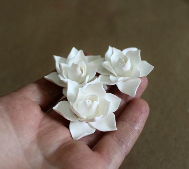 White magnolia flower hair clips flower accessories etsy image 0 mightylinksfo
