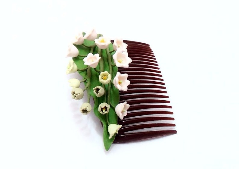 Flowers Hair Comb Wedding Comb Lily of the valley hair comb Wedding accessory Bridesmaid Hair Comb Flower Girl Comb