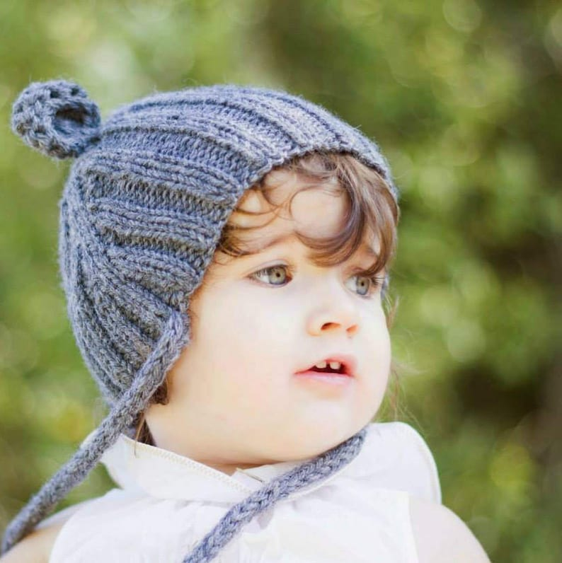 0080ad1c9 Baby Ear Flaps Hat Bear ears hat knitted for newborn Kids