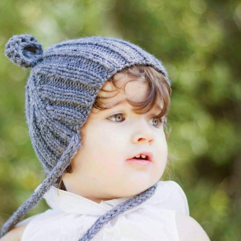 Gorro bebé con orejas Gorro tejido con orejeras Gorro osito  f9a89457b1f