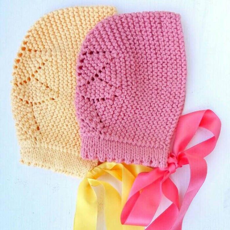 Capota estrella para bebé Gorro con lazo de algodón o lana  393fa6d73cf