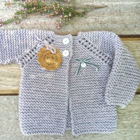894418df7552 Girls baby sweater hand knit in alpaca Wool cardigan as baby