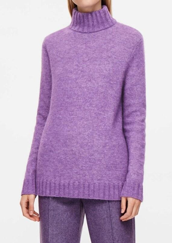 para mujer virgen Etsy cuello tejido Jersey en de lana alto qTHwIxtFI