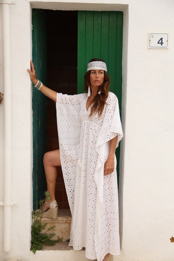 ibiza boho maxi kaftan etsy. Black Bedroom Furniture Sets. Home Design Ideas