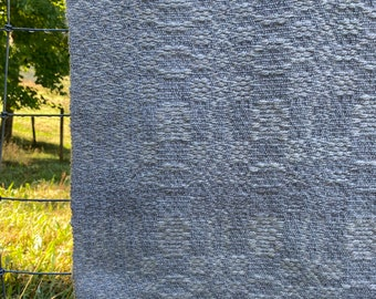 Circle of Stones Prayer Shawl***wool woven shawl/wrap/lap blanket, woven blanket, handwoven, wool blanket, wool shawl, blanket