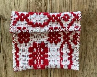 Rose white***Woven pouch, woven, medicine pouch, woven medicine pouch