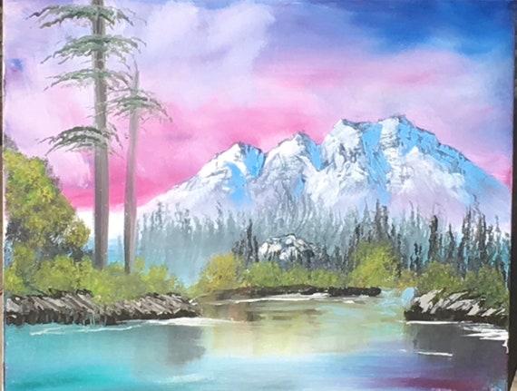 Pink Sunset Mountains