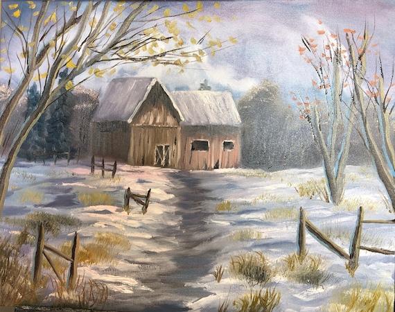 Cold Winter Barn