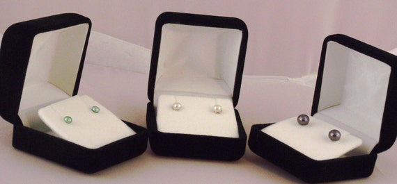 Genuine Pearl & Sterling Silver Stud Earrings