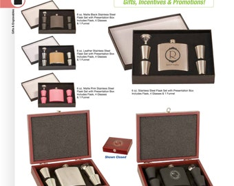 Personalized Flask Set with Shot Glasses , gift box with customized flask, Groomsman Gifts, Best man Gifts