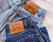 Levi Vintage High Waist Blue Jeans - all sizes, all styles, all washes (light, medium, dark), custom listing to order