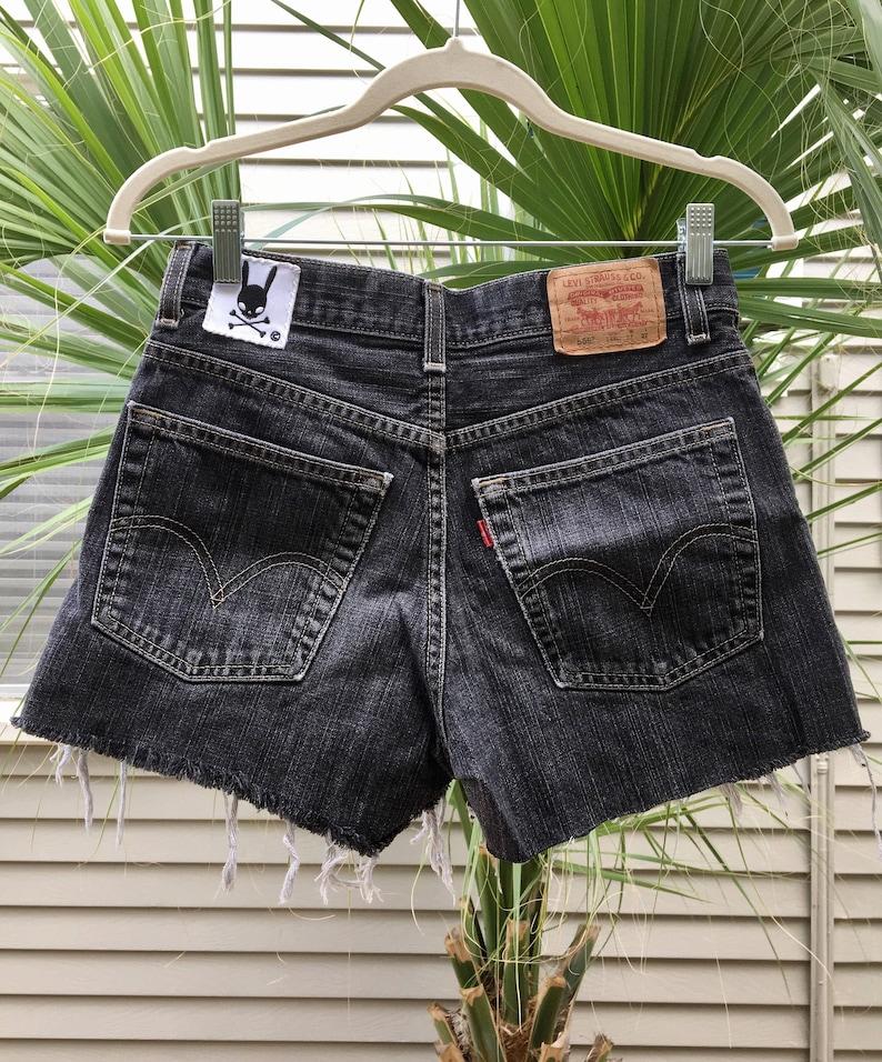 393b1a1d Custom black denim shorts choose your style highwaisted | Etsy
