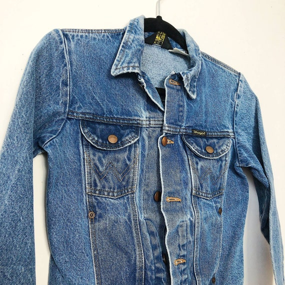 Wrangler Vintage Denim Jacket, Size XS, Made in US