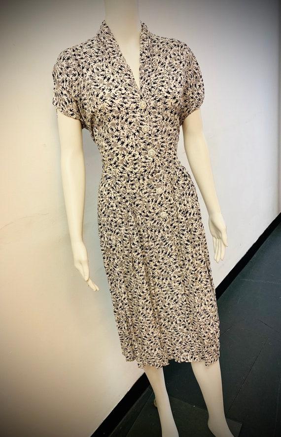 Vintage 1940s Novelty Print Dress
