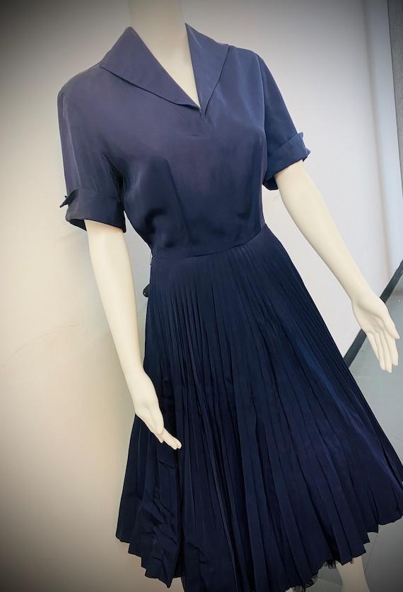 1950'S NAVY SWING DRESS