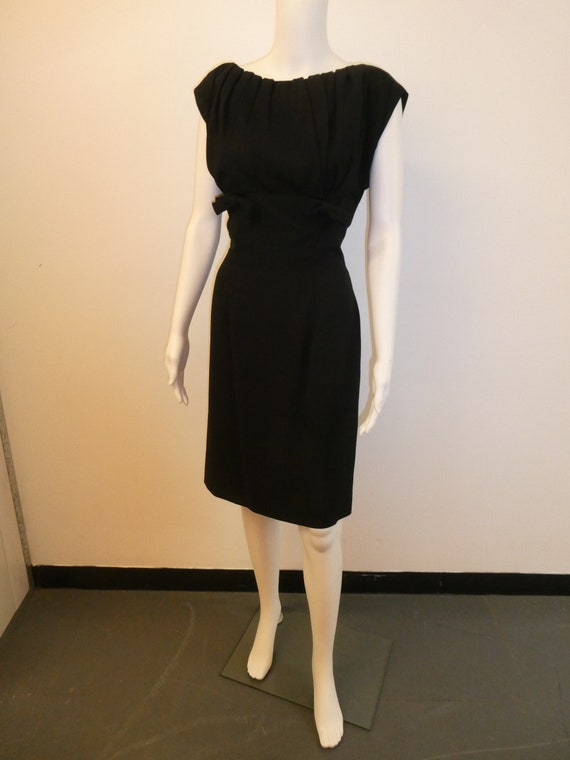 1950's GIGI YOUNG Black Wiggle dress