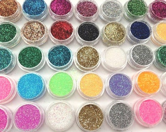 10 X Glitter Pots - Eye Shadow Glitter Lips Glitter Tattoo Glitter Eyes Face Painting Face And Body Nail Art