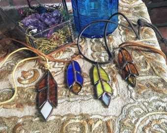 Necklace- Stained Glass Feather