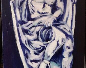 Lucifer Original Oil Painting