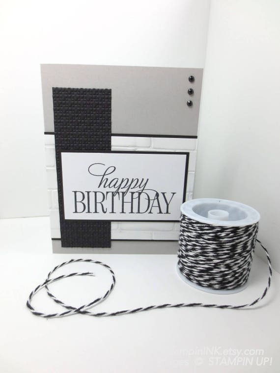 Masculine Birthday Card Stampin Up Happy Birthday Card Etsy
