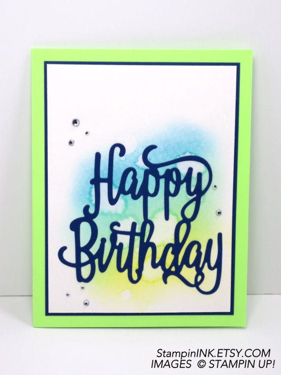 Stampin Up Masculine Birthday Card Handmade Birthday Etsy