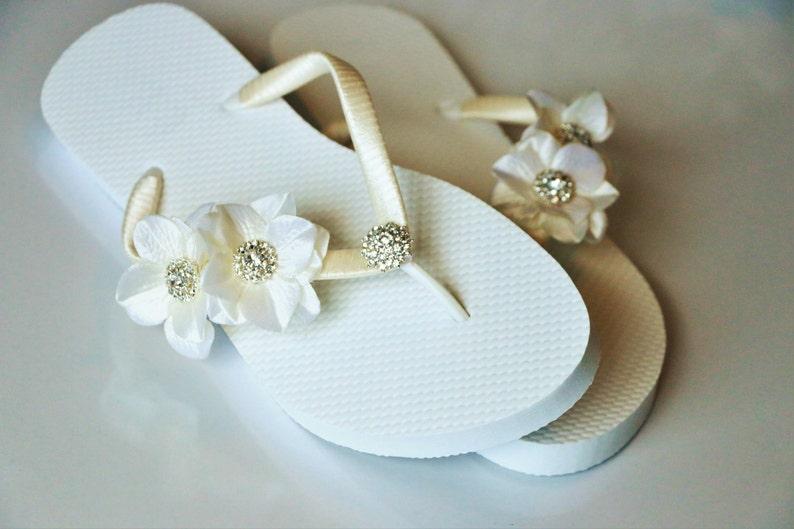 53e905eed6b383 BRIDAL Flip Flops WEDDING Flip Flops Bridesmaid Flip Flops